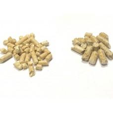 Пеллеты белые древесные с добавлением дуба  Е+ Подмосковные